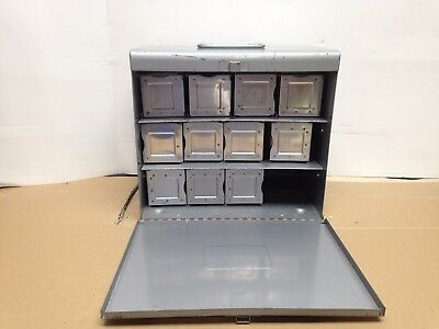 Vintage Lot 3 Argus, 8 Airequipt Slide Trays 36 Capacity And Metal Storage Case