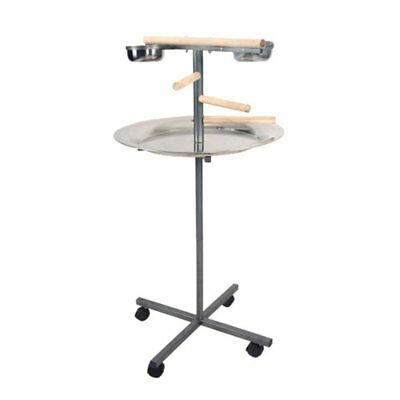 A and E Cage Co. Round Play Stand with Wooden Steps