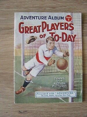 1925 Adventure Album Part 3 : Great Players Of Today