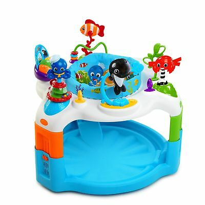 Baby Gear Jumpers Saucer Seat Rotates 360 Degree Activities Play Center Toy Gift