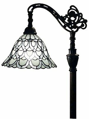 Stained Glass Floor Lamp Accent Light Art Deco Mission Craftsman Victorian Read
