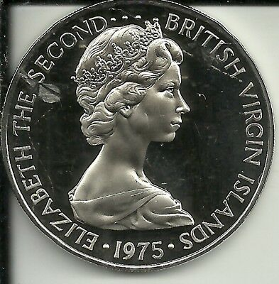 BRITISH VIRGIN ISLANDS 1975 50 Cent coin Proof   32,000 Minted~