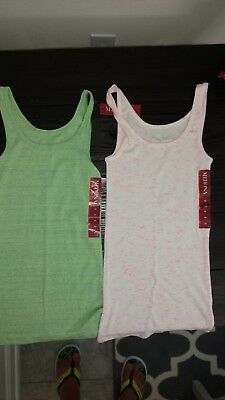 Lot of 2 Merona XS Tank Tops - New with tags NWT - Great for Layering
