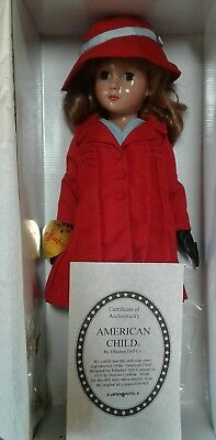 """EFFANBEE~1936 replica AMERICAN CHILD STAMP DOLL~18"""" by Dewees Cochran ."""