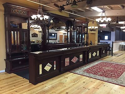 Rare Horseshoe Backbar & Matching Front Bar