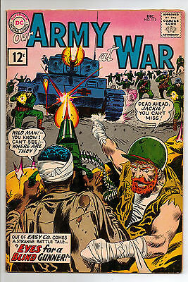 Our Army At War #113 (DC, Dec 1961) VF- FIRST APP. WILDMAN & JACKIE JOHNSON