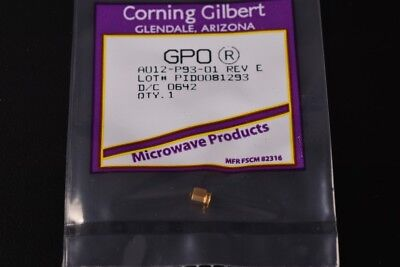 Corning Gilbert GPO Male Full Detent PCB Surface Mount RF Connector A012-P93-01