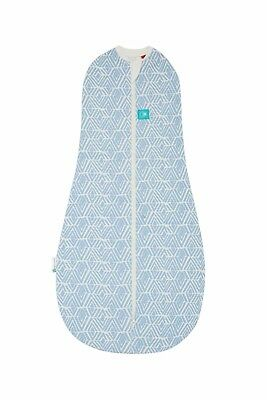 ergoPouch ERGOCOCOON BABY SWADDLE 0.2 TOG Tribal Blue 0-3 months