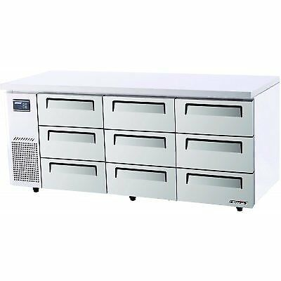 Turbo Air KUR18-3D-9 Drawer Under Counter Side Prep Table Refrigerator. Weekl...