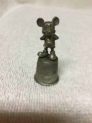 Stamped Disney Mickey Mouse Pewter Thimble Disneyland Southern California
