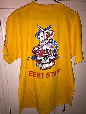 New, Laughlin River Run Goldennugget Event Staff T Shirt,size Xl, Live Free Ride