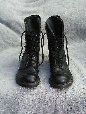 H&H Leather Combat Style boots size 10 USA. Cosplay, Gothic, Steampunk!