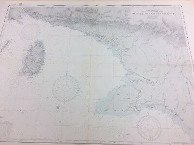 Vintage Hydrographic Map of Merauke to Kaap Van Den Bosch, New Guinea