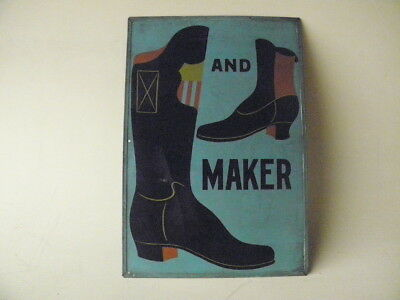 Antique Boot and Shoe Maker Double Sided Trade Sign