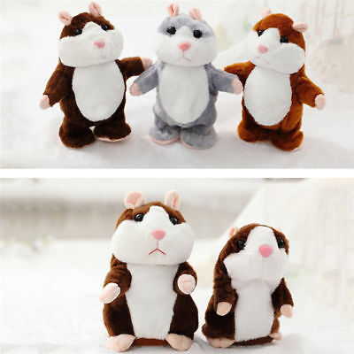Electronic Pet Talking Hamster Buddy Doll Talking Plush Toy Repeats What You Say
