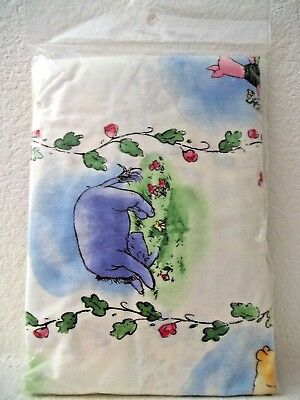 CLASSIC WINNIE THE POOH & His Friends Crib/Toddler Fitted SHEET Blue/Multi NEW