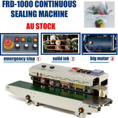 Automatic Solid Ink Continuous Band Sealer Plastic Bag Sealing Machine FR1000