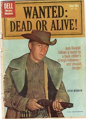 WANTED DEAD OR ALIVE (#1) DELL COMICS FOUR COLOR 1102 STEVE McQUEEN PHOTO COVER