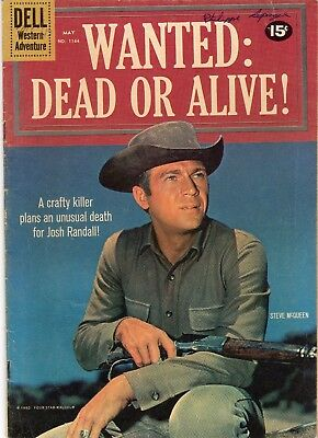WANTED DEAD OR ALIVE  DELL COMICS FOUR COLOR 1164 STEVE McQUEEN PHOTO COVER