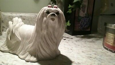 Maltese ceramic dog figure