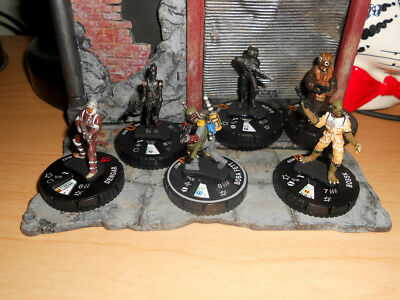 CUSTOM Heroclix BOBA FETT IG-88 Bossk 4-Lom Star Wars Dengar Bounty Hunter Lot 6
