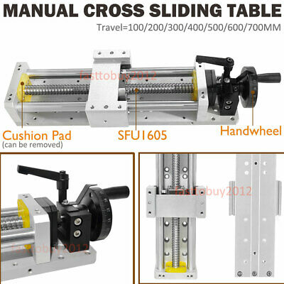 Manual Sliding Table 100mm Cross Slide Linear Stage SFU1605 Ballscrew XYZ Axis