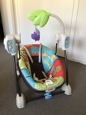 Fisher Price Space Saver Luv U Zoo Swing And Seat