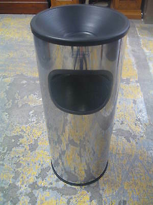Standing Ashtray with Bin, Stainless Steel.  Made by Probbax.