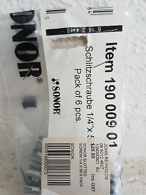 Genuine Sonor tuning rods.  1/4 × 50mm 6pack