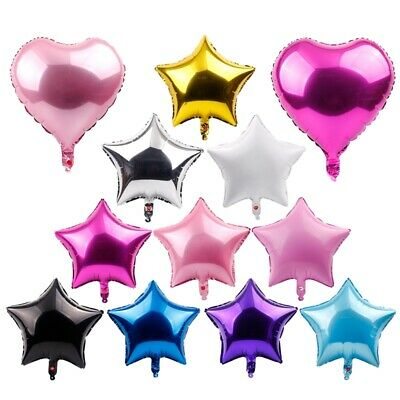 5Pc/Lot Foil Star Balloons Wedding Supply Happy Birthday Party Decor Baby Shower
