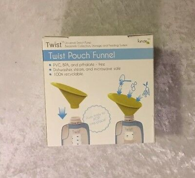 Kiinde 2  Piece Twist Pouch Funnel Breastfeeding Nursing Feeding System New