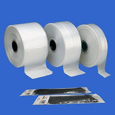 """Polyethylene Clear Polybag Tubings 1.5 mil thick, 3"""", 4"""", 6"""", 12"""",18"""" Wide x100'"""