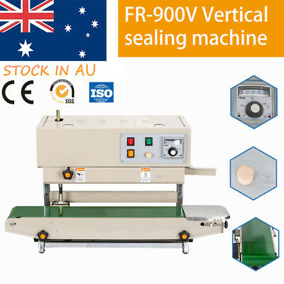 FR-900V Plastic Bag Solid Ink Continuous Band Sealer Automatic Sealing Machine