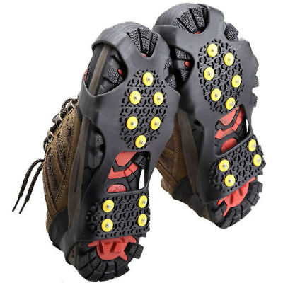 Spikes Grips Shoes Cover Crampons Snow Ice Anti-Slip Climbing Grippers Silicone