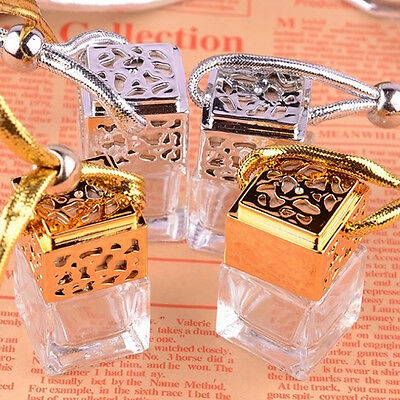 Glass Perfume Bottle Car Essential Oils Pendant Air Freshener Mini Diffuser Gift
