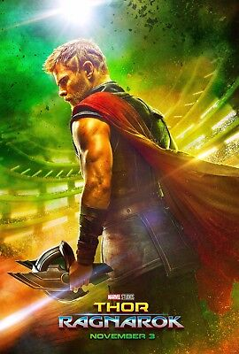 Thor Ragnarok Movie Poster (24x36) - Chris Hemsworth, Hiddleston, Blanchett v1