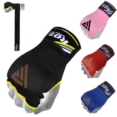 ROTS Fist Gel Bandages Inner MMA Boxing Quick Hand Wraps Gloves Muay Thai Straps