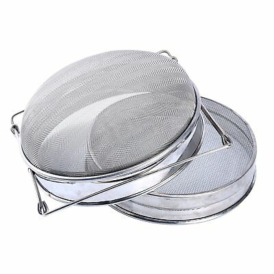 Honey Strainer Double Sieve Stainless Steel Beekeeping Equipment Filter Kit