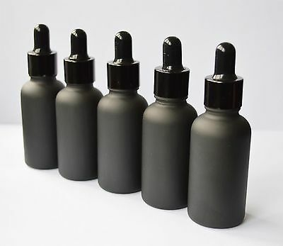 2.qty 30ml Black Frosted light-proof Glass Dropper Bottle to store Oil