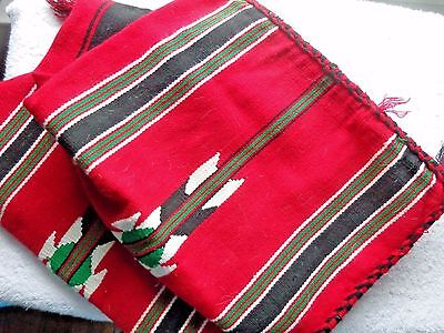 2 Turkish Red With Stripes Pillow Cases 23 Inches By 15 Inches