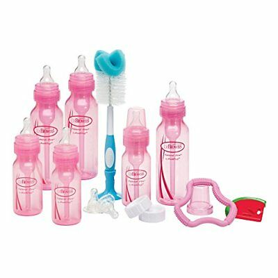 Dr. Browns Bottles Pink Set with Level 2 and Level 3 Nipples Bottle Brush