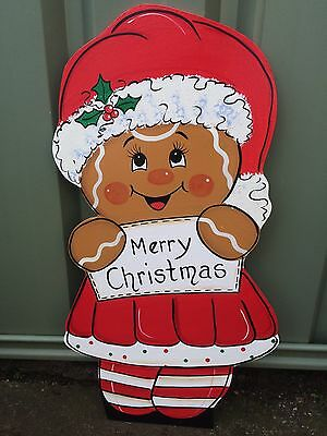 Christmas xmas outdoor decoration display cut out Santa Gingerbread