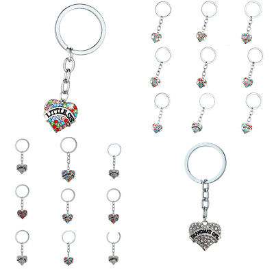 Heart Crystal Rhinestone Keyring Keychain Key Chain Jewelry Mom Dad Aunt Friend