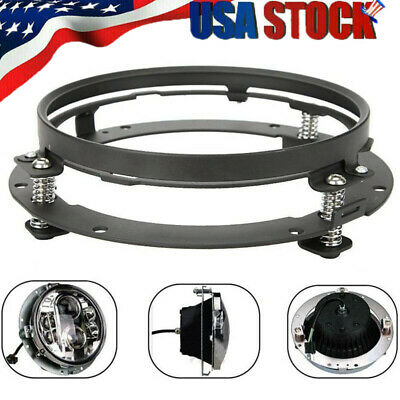 """7"""" Inch LED Headlight Adapter Mounting Ring - Bracket Head Lamp Daymaker Round"""