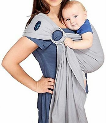 Cuby Ring Sling Carrier Fashionable and Comfortable (Grey White) Grey White