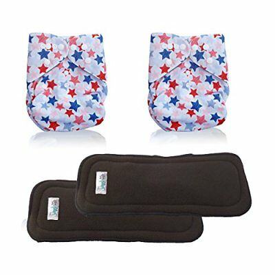 AngelicWare Cloth Diapers Set. Reusable all in One Size Baby Pocket Diaper + ...