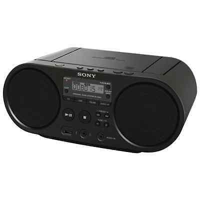 New Sony Am/fm Radio & Cd Boombox With Usb Zsps50