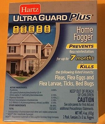 HARTZ Ultra Guard Plus Home Fogger 2 Cans Kills Fleas & Bedbugs