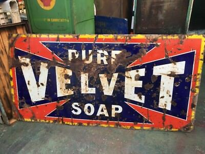 Velvet Soap Genuine Enamel Sign
