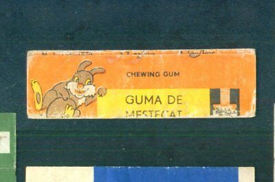 Chewing gum wrapper Guma De Mestecat Very Rare 80s Romania